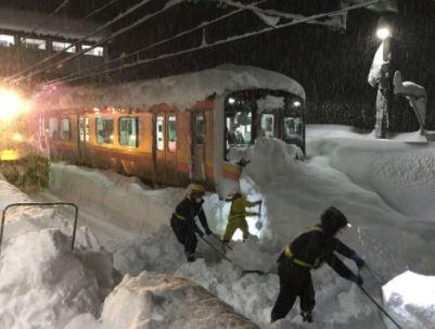Catastrophes Naturelles Net Episode Neigeux Historique Au Japon